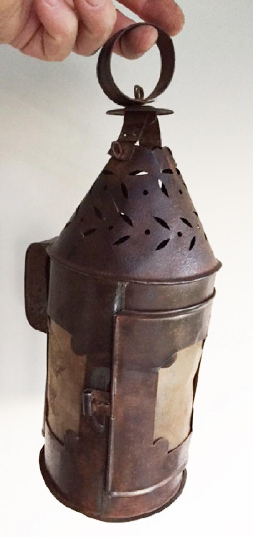 19th Cent Tin/horn Lantern