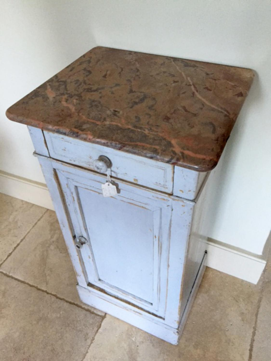 Antique Marble top Pot Cupboard