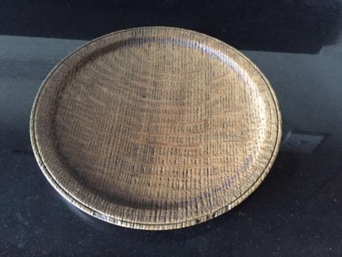 Antique Oak Welsh Food Plate