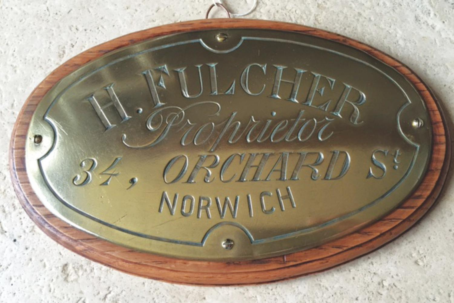 Victorian Norwich Trader's Plaque