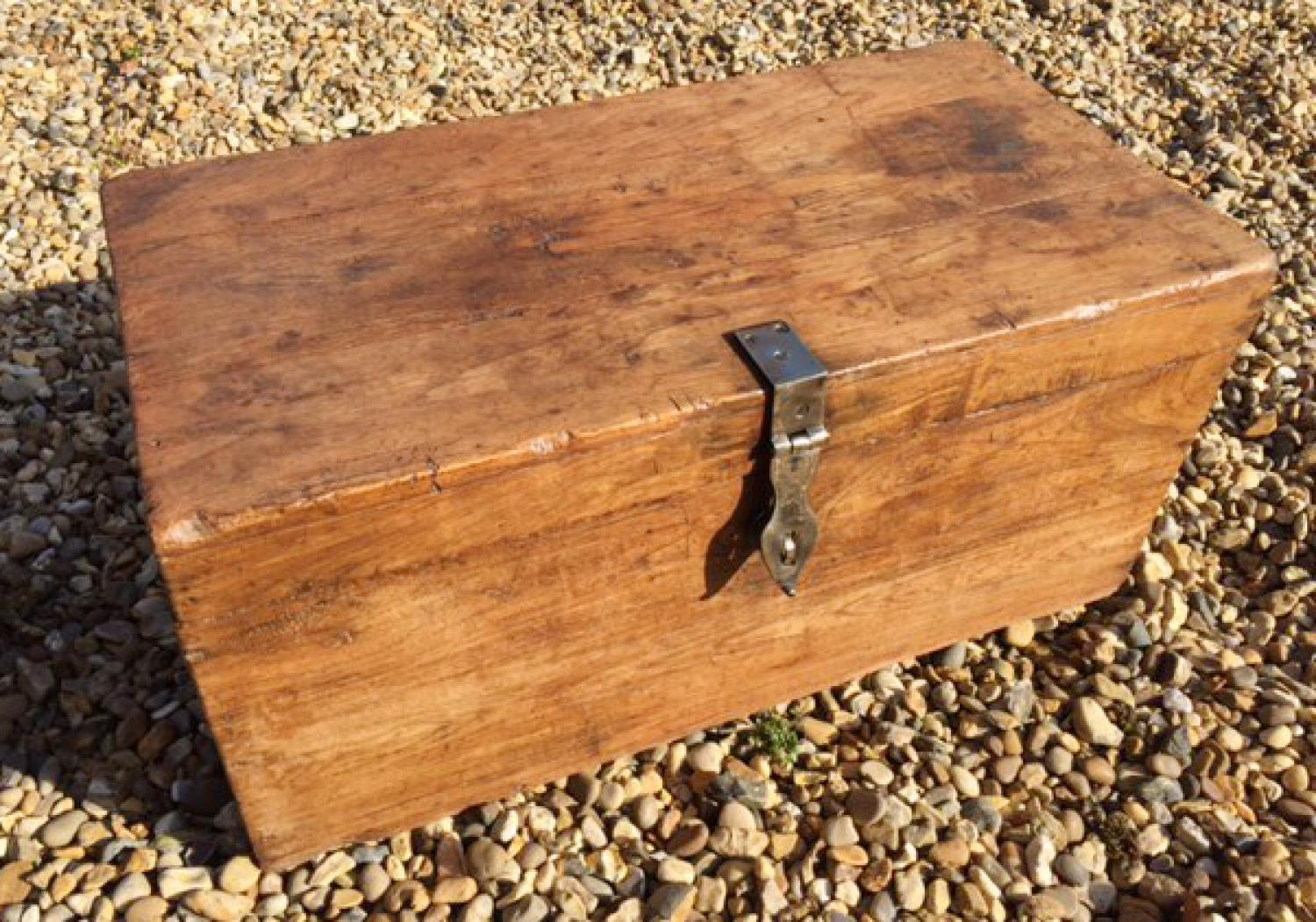 19th Cent Box with brass clasp