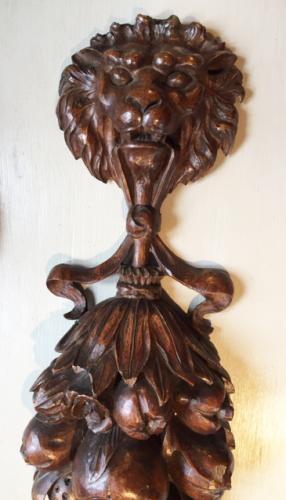 Spectacular 19th Cent Oak Carving