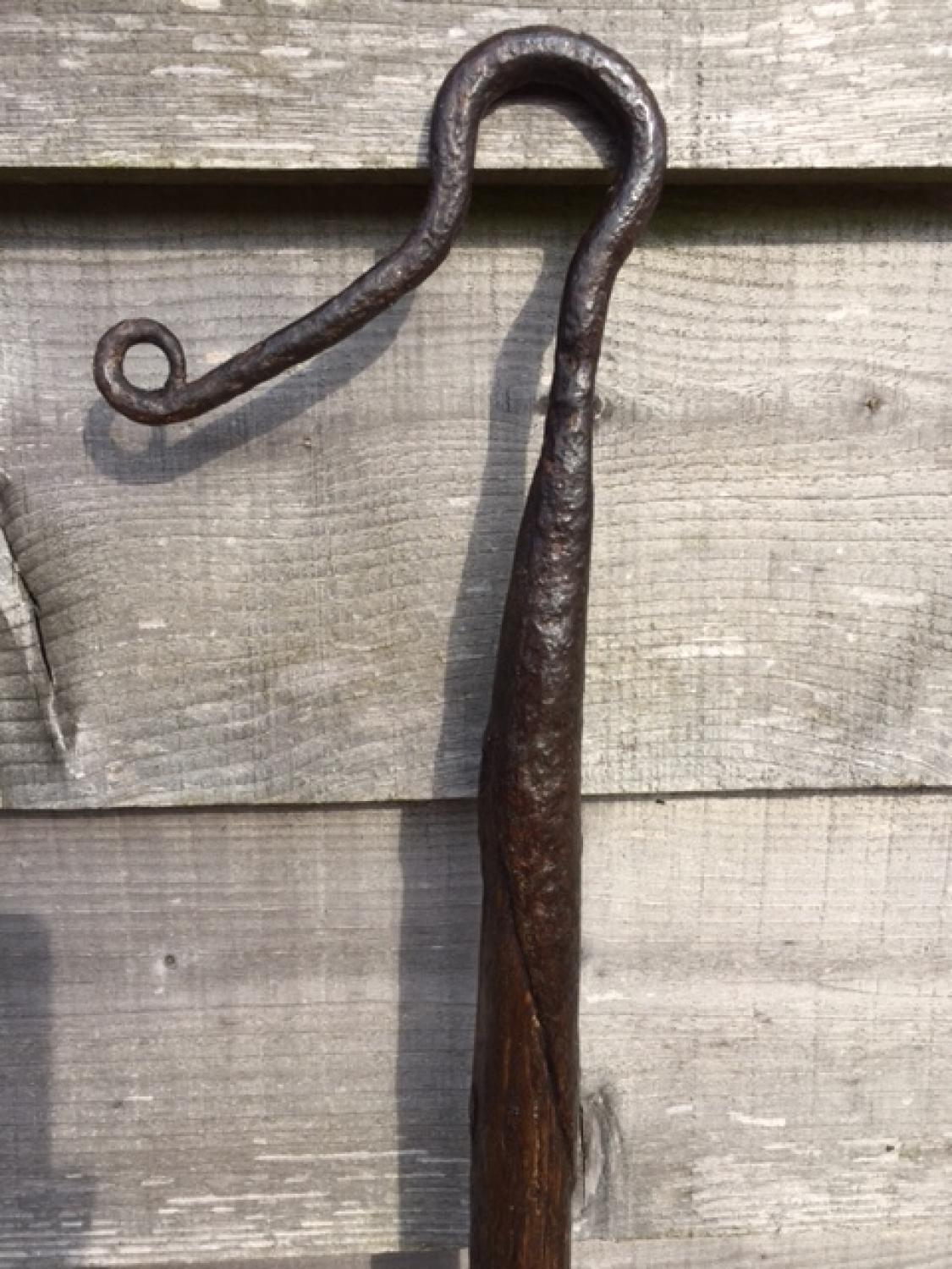 19th Cent Shepherd\'s Leg Crook