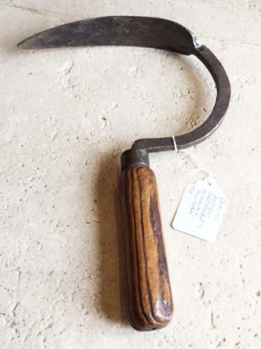 Unusual 19th Cent Flared Hand Hoe