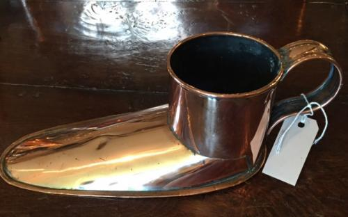 Antique Copper Slipper Ale Wrmer