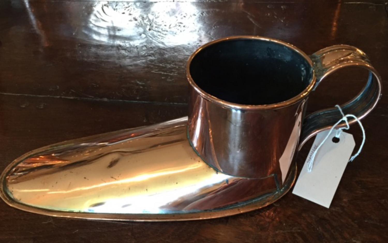 Antique Copper Slipper Ale Wrmer