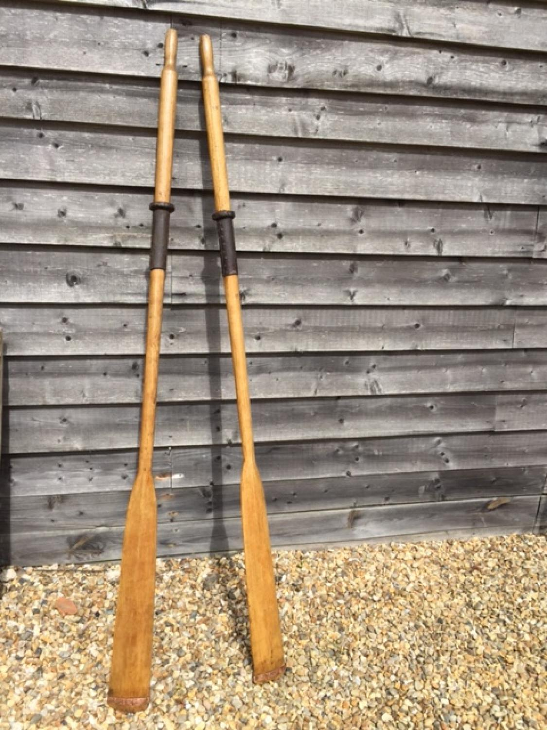 Antique Pair Oars