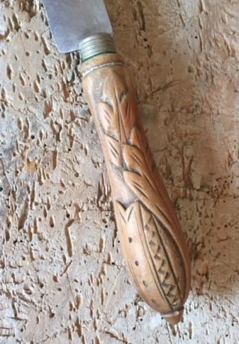 Antique Carved Bread Knife