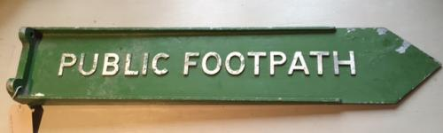 Vintage Metal Public Footpath Sign