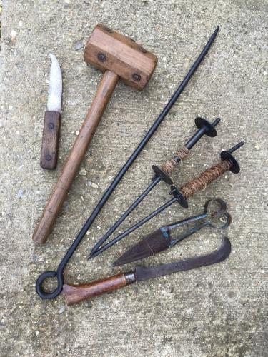 Collection of Norfolk Thatching tools