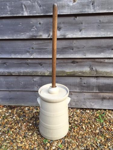 Antique Ceramic Butter Churn