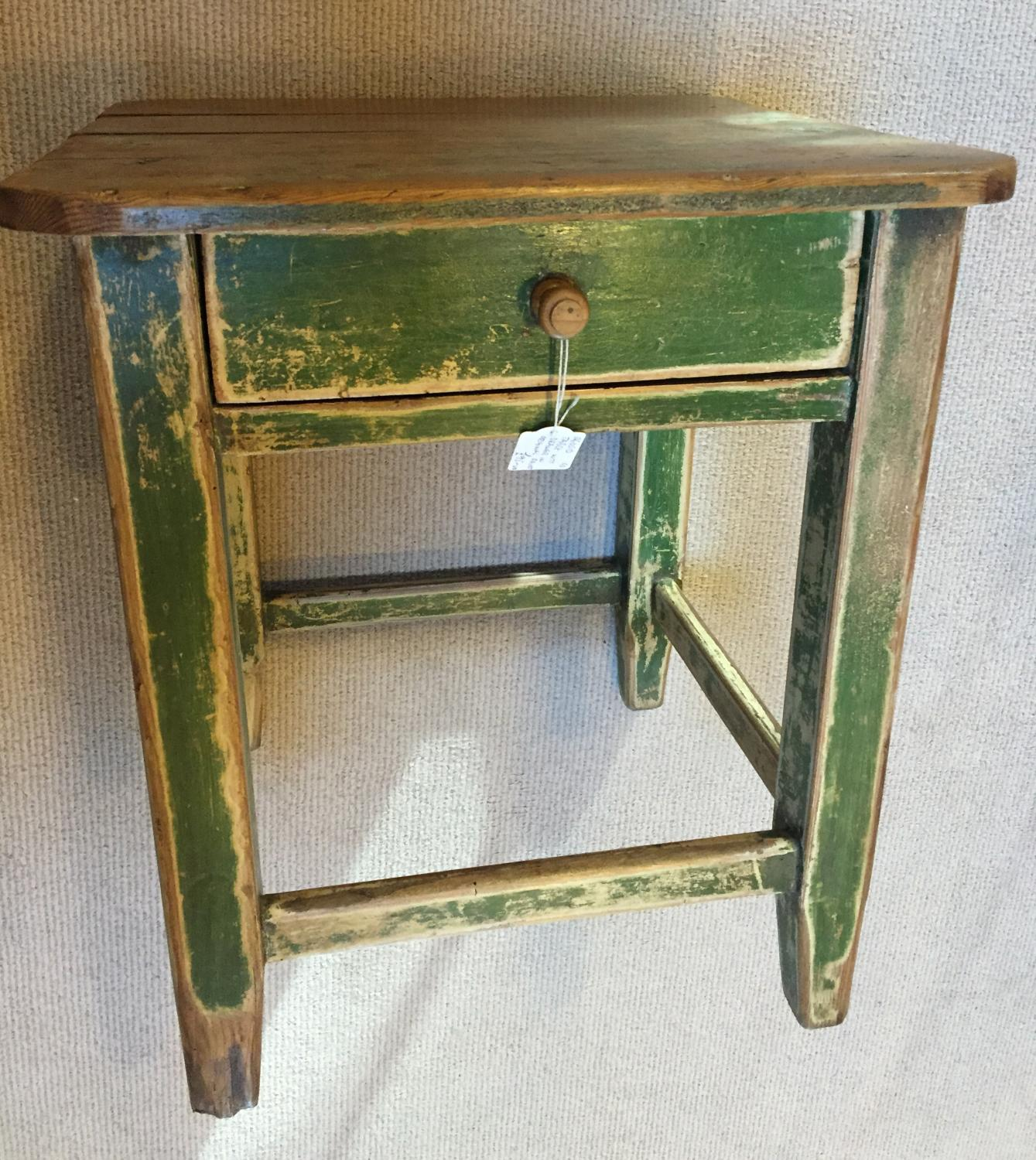 Antique Bedside Table Stool