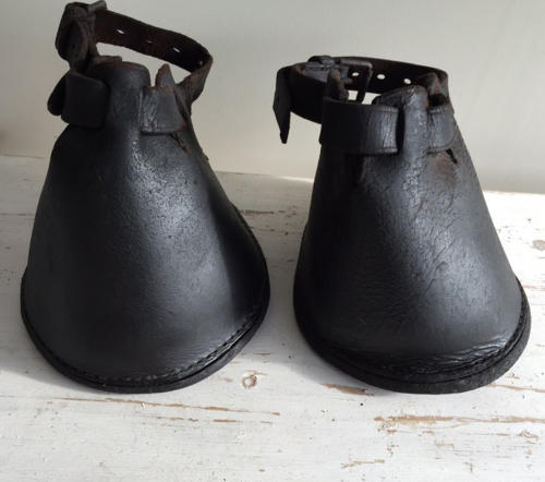 Pair Victorian Horse Lawn Boots