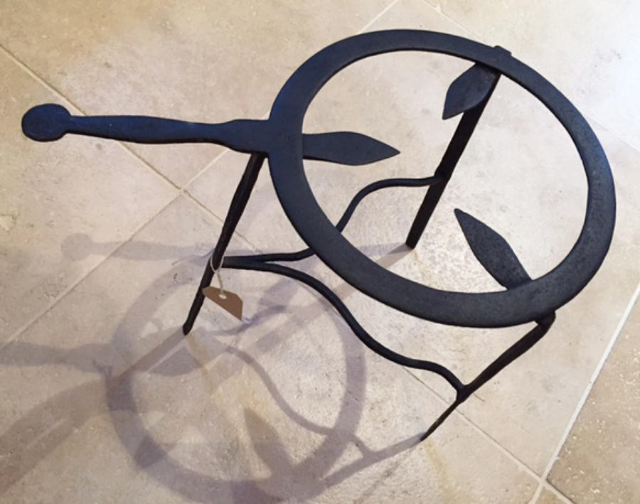 19th Cent Iron Kettle or Pot Trivet