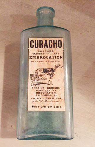 Curacho Embrocation bottle