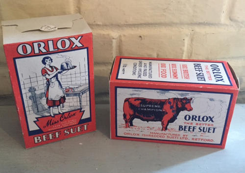 Orlox Beef Suet Packaging