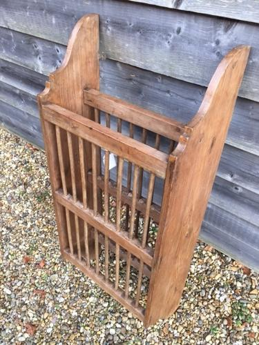 Victorian Pine Plate Rack