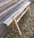 Antique Pale Elm bench - picture 3