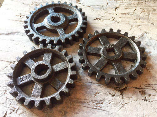 Antique Seed Drill Cogs