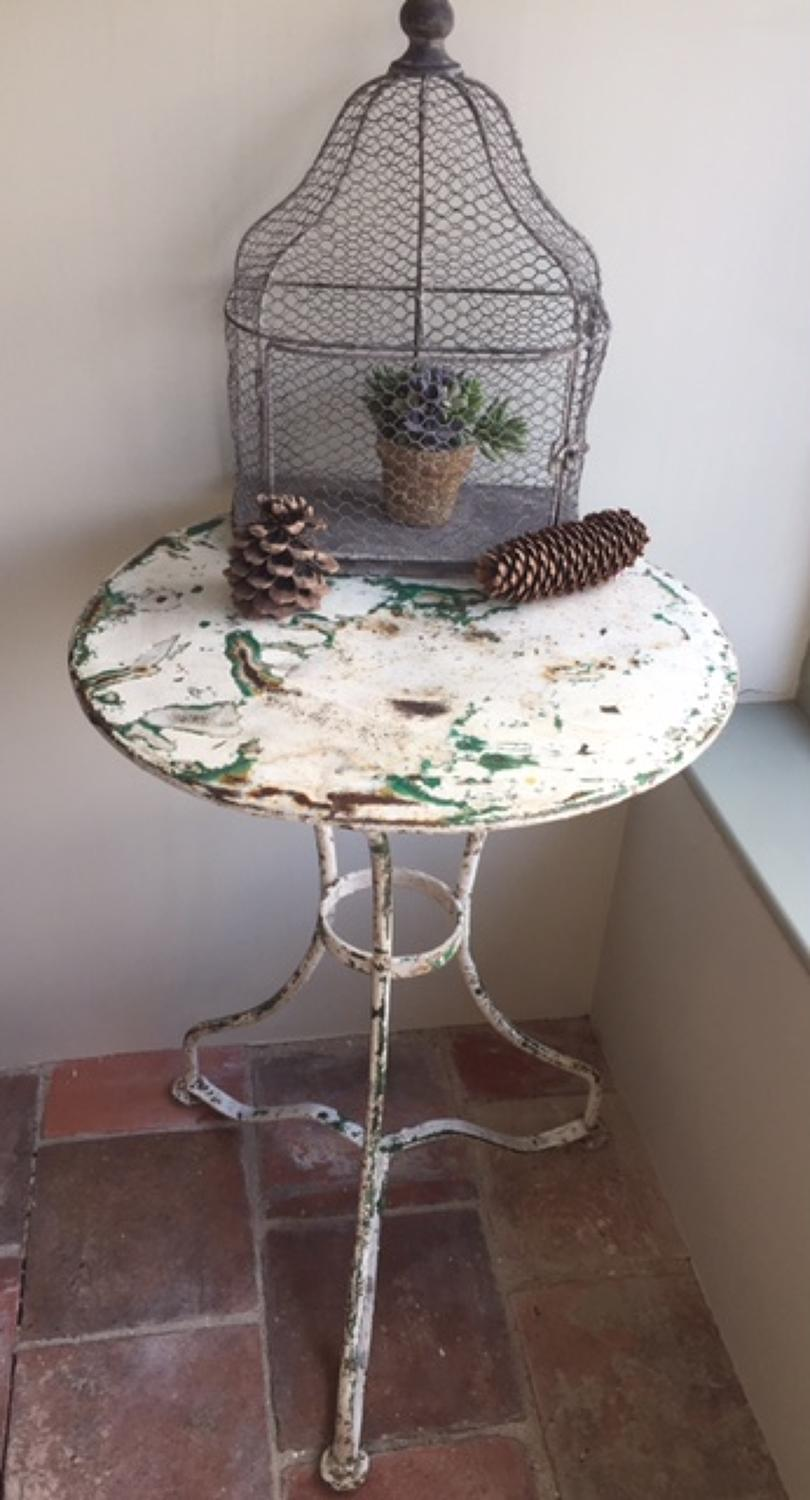 Antique Iron Cafe Table