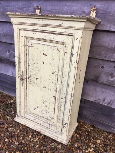 Antique Wall Cupboard (Ivory/yellow)