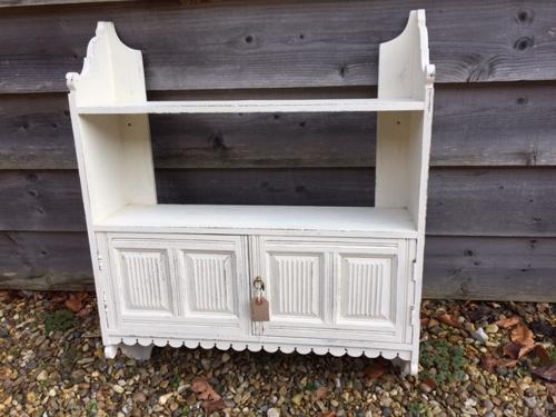 Painted Wall Shelf Cabinet