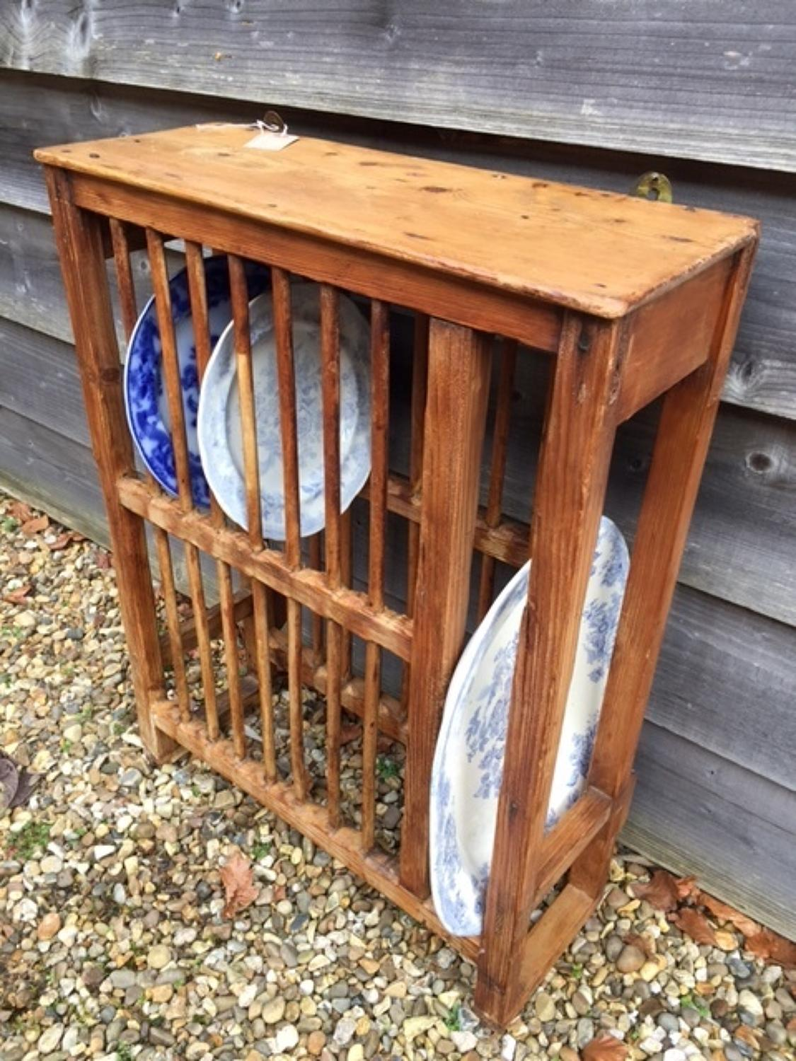 Victorian Pine Plate Rack : pine plate rack - pezcame.com