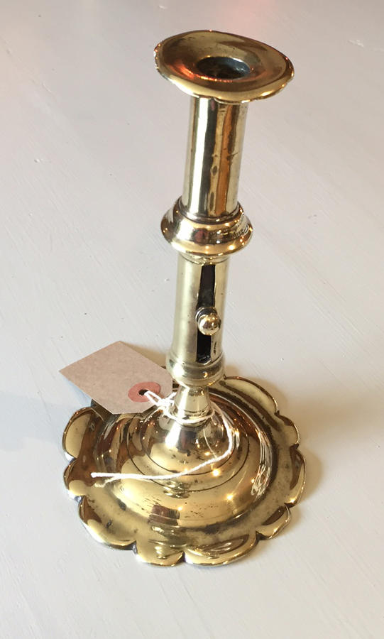 Brass Ejector Candlestick c.1740