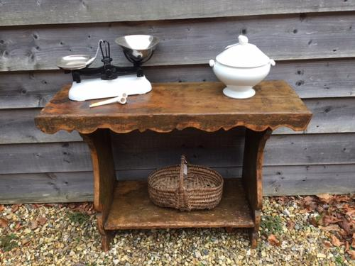 19th Cent Primitive Hall Table