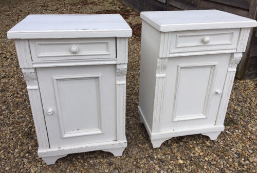Stunning Matching Pair Bedside Cupboards