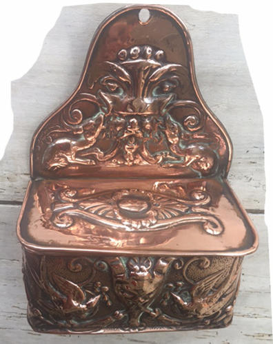 19th Cent Copper Match/Spill holder