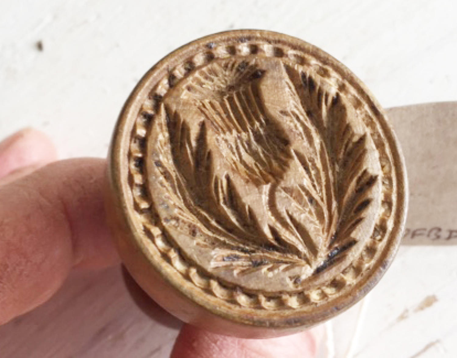 Tiny Sycamore Thistle Butter Stamp