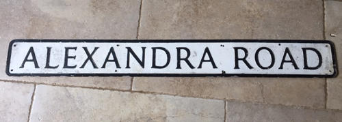 Vintage Road Sign ALEXANDRA ROAD