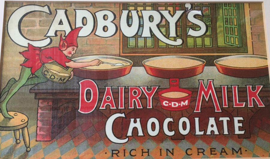 Vintage Cadbury Milk Chocolate Advert