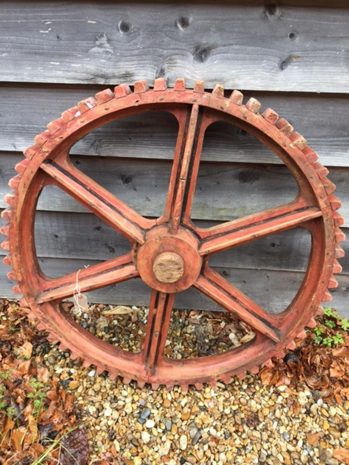 Large 19th Cent Mill Cog Pattern