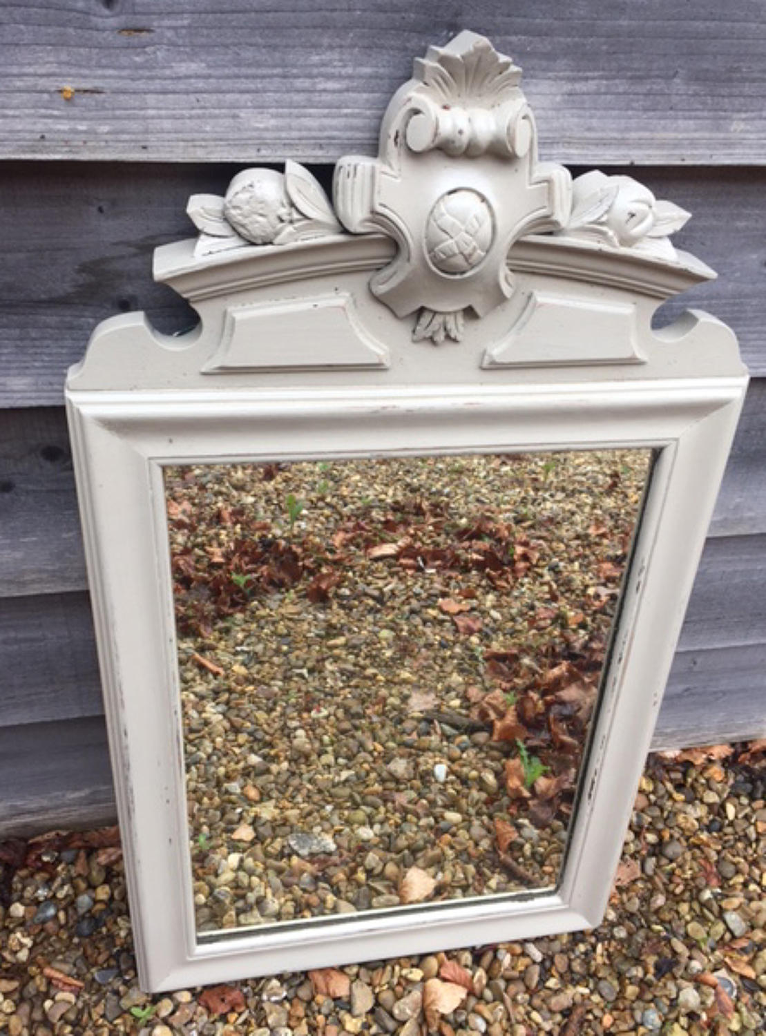 Carved top French Mirror