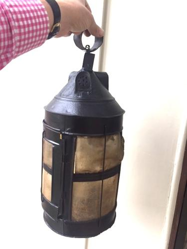 19th Cent Large Shepherd's Horn Lantern