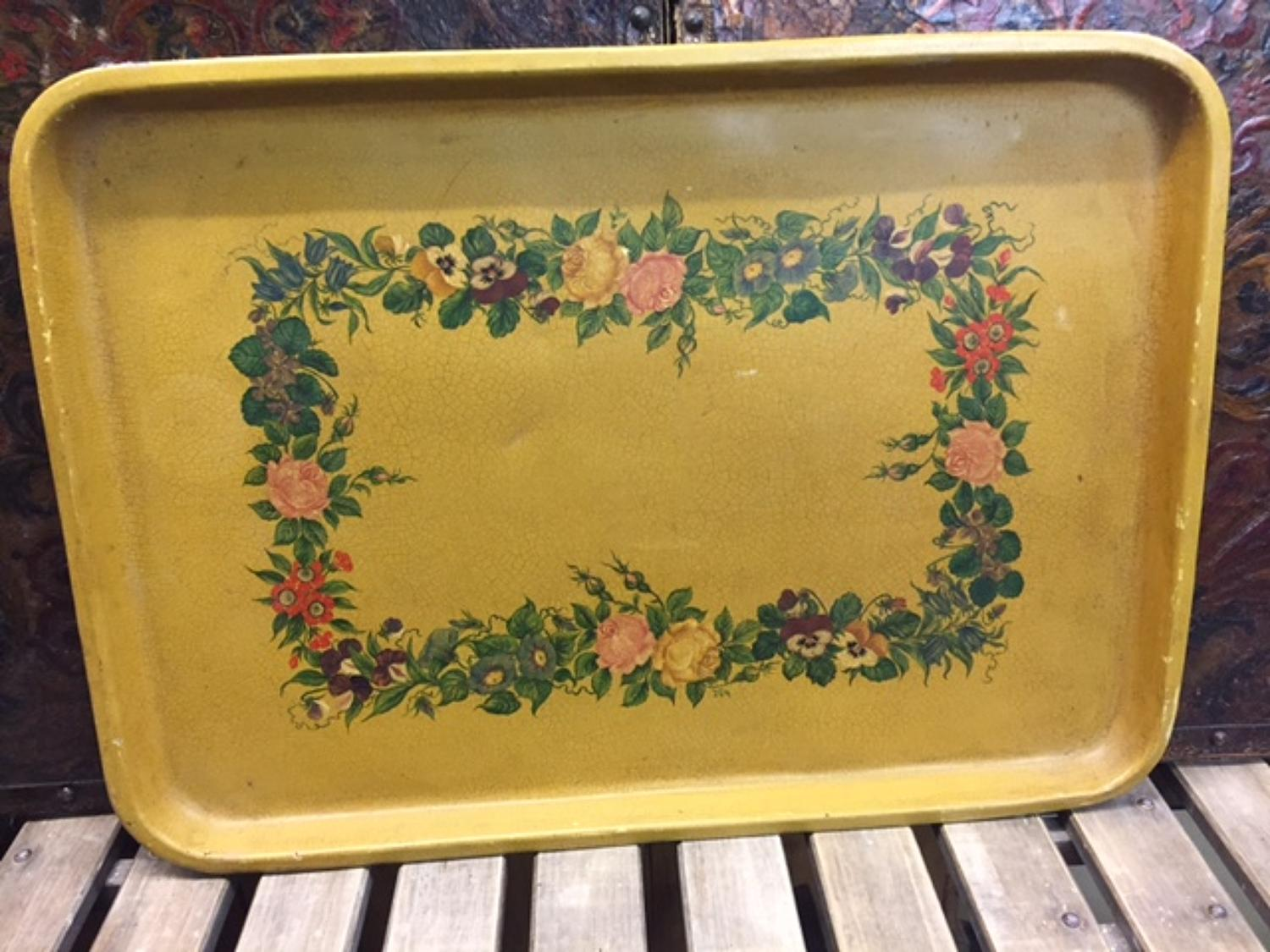 Large Toleware Tray