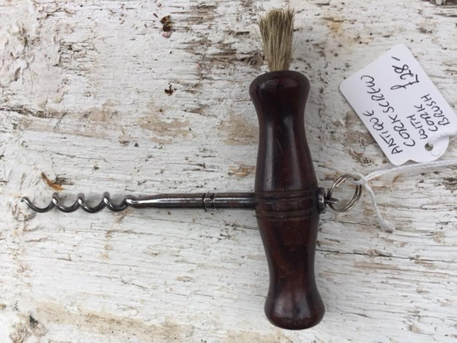 Antique Plain Rosewood Corkscrew