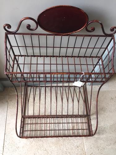 Vintage Wire Plate Rack