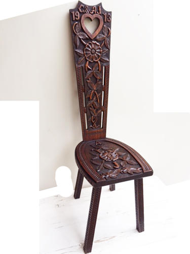Superb Welsh Marriage Chair