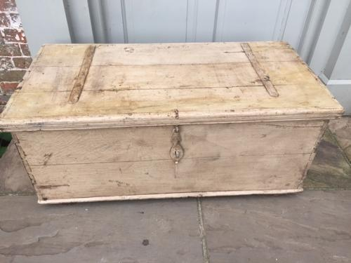 Stunning 19th Cent Box Trunk in original paint