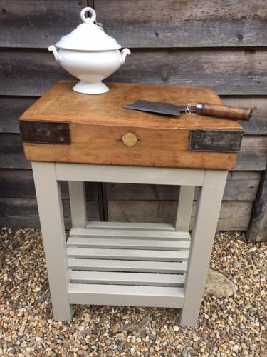 Antique Butcher's Chopping block (medium size)
