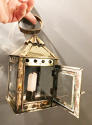 19th Cent Small Brass Hand Lantern - picture 1