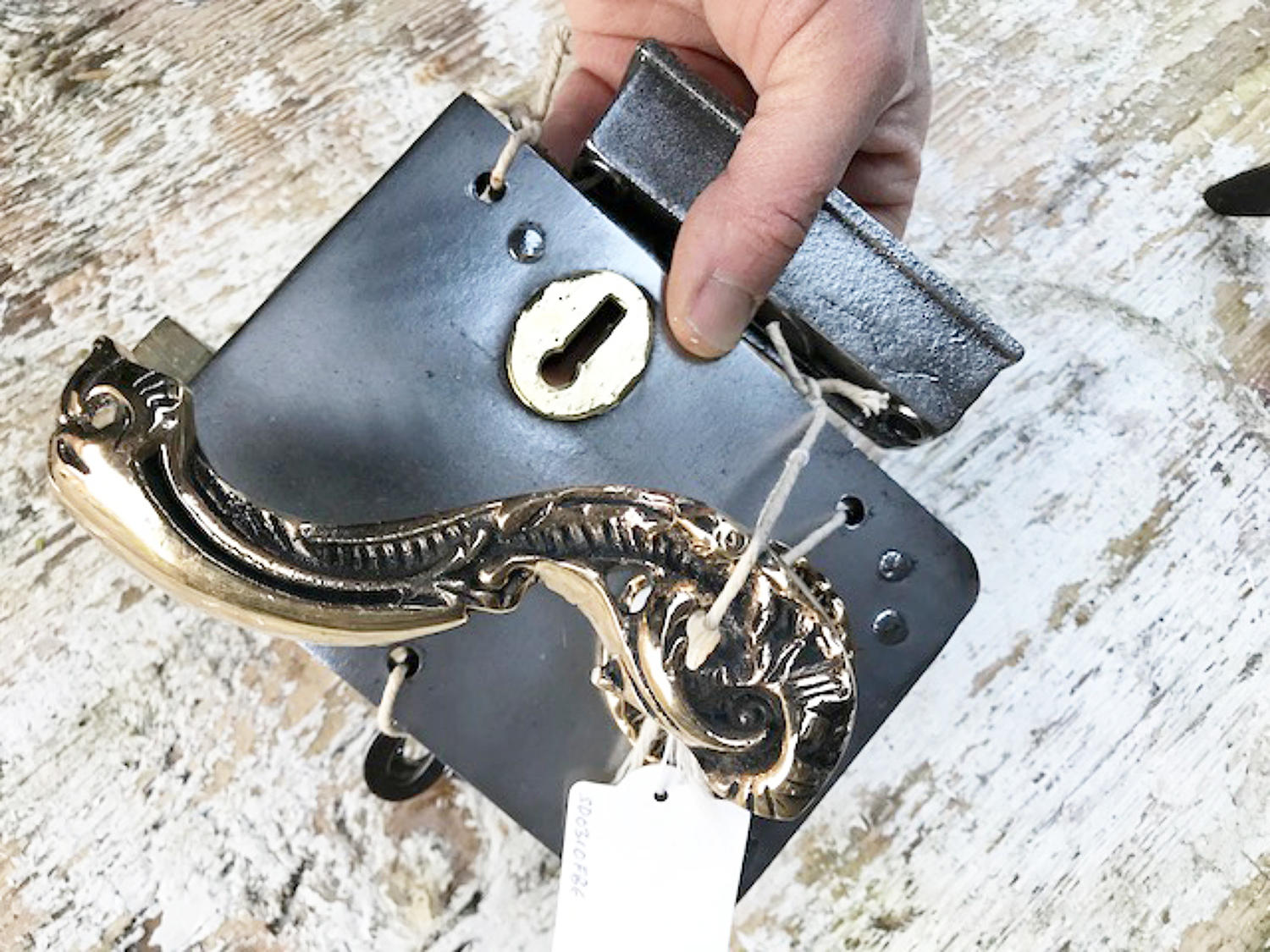 Antique Brass and Steel Lock