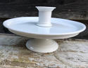 Edwardian White Ironstone Cake Stand Tazza - picture 1