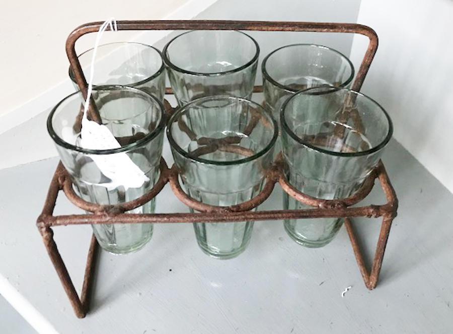 Antique Tea Glass Rack