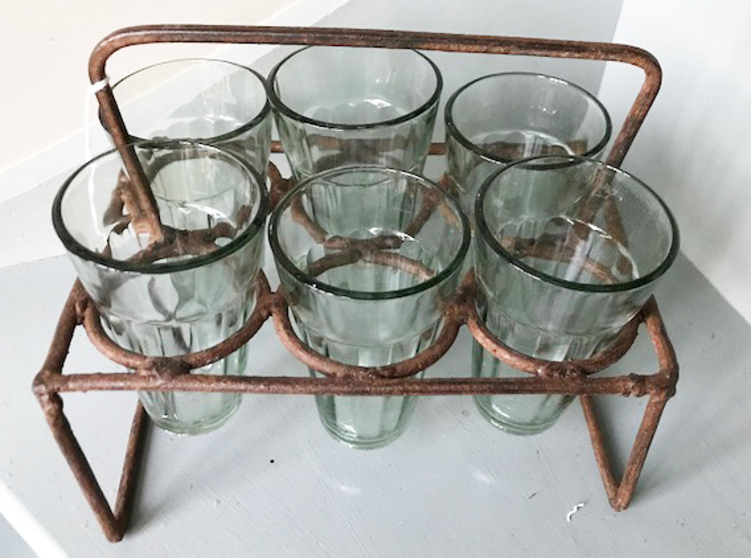 Antique Tea Glass Rack