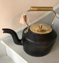 19th Cent Cast Iron & Brass Kettle - picture 1