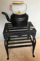 19th Cent Cast Iron & Brass Kettle - picture 2